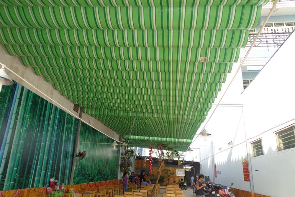 Mái bạt xếp, mái xếp nhà hàng, quán ăn, cafe